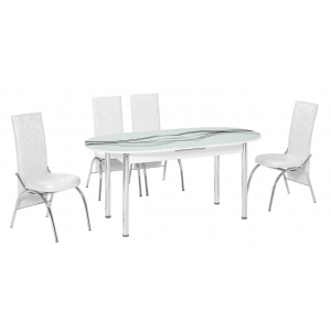 KT 7018-140/W Mutfak Masası Takımı