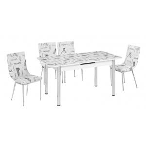 KT 7115-120/W Mutfak Masası Takımı