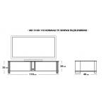 MD 3100-110/B Konmalı TV Sehpası