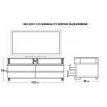 MD 5001-125/B Konmalı TV Sehpası