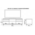 MD 5004-125/W Konmalı TV Sehpası