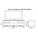 MD 5104-125/V Konmalı TV Sehpası