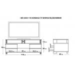 MD 6004-110/V Konmalı TV Sehpası