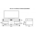 MD 6104-110/V Konmalı TV Sehpası